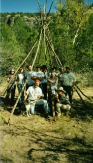 My survival group.  I took this class and then helped the instructor teach it the next year along with a hiking class and a backpacking class.