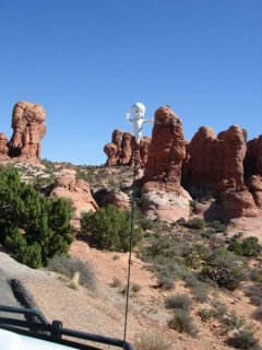 Casper at Arches National Park at Moab
