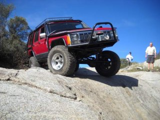 On 'The Slide', Sidewinder Trail, Corral Canyon OHV, CA