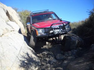 On Sidewinder Trail, Corral Canyon OHV, CA