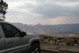 """Hope"" overlooking the south rim of the Grand Canyon"