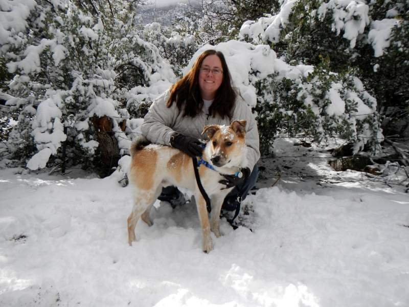"""Oracle, AZ  Snow on New Year's Day  My baby """"Clayton"""""""